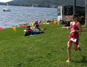 Finishing the run at SavageMan.  First pro and fastest run of the day.