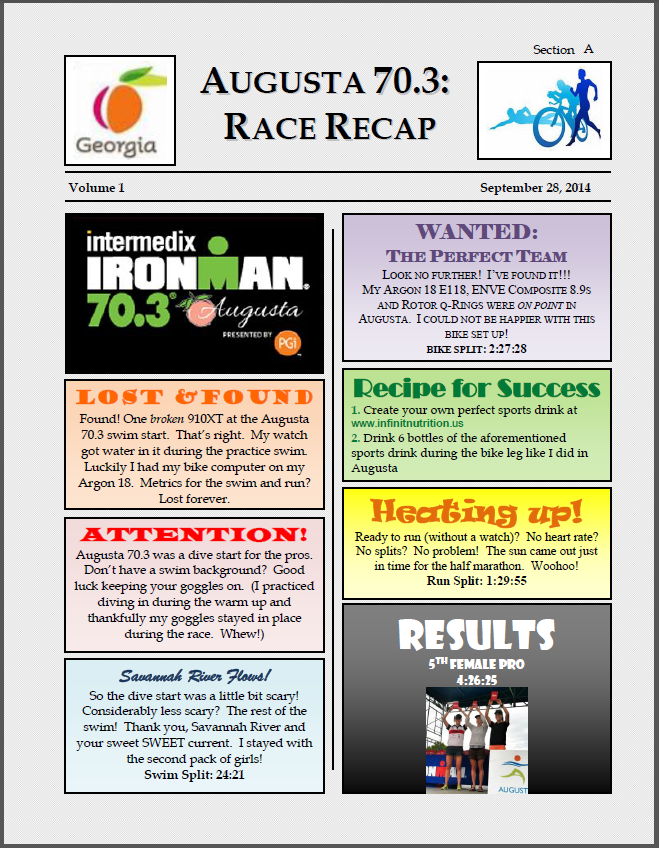 In An Homage To My Day Job As A Health And Physical Education Teacher I Have Included Race Recap Below Back School Newsletter Format Enjoy