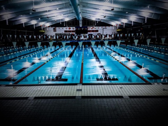 Photo shoot at the Mary T. Meagher Aquatic Center in Louisville. Getting it done with Blue Seventy!
