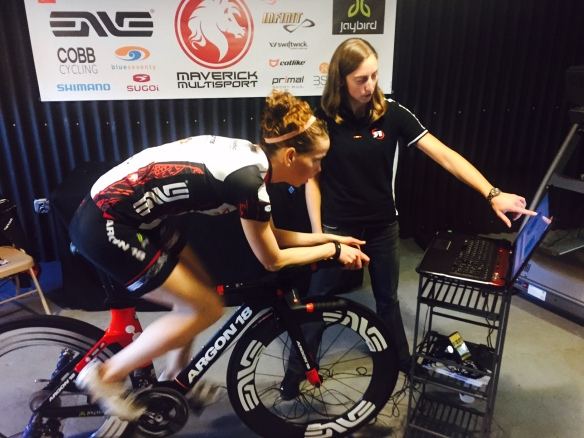 Super-smart super-cyclist, Christie O'Hara of Rotor Bike Components critiqued my spin scan.