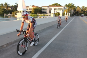 The team on bikes Miami